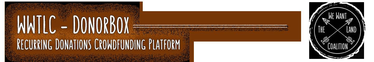 WWTLC - DonorBox Recurring Donations Crowdfunding Platform
